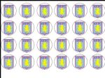 24 Aston Villa football club FC Edible Wafer Rice Cup Cake Toppers